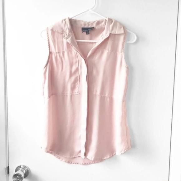 Cynthia Rowley Tops - Pink Chiffon Business Top